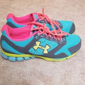 Under Armour sneakers, worn, still in good shape
